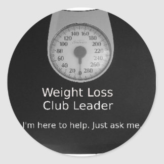 Promotional Design For Weight Loss Coaches Round Sticker