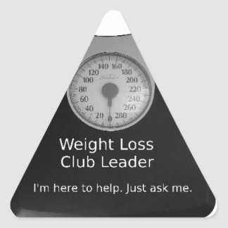 Promotional Design For Weight Loss Coaches Triangle Sticker
