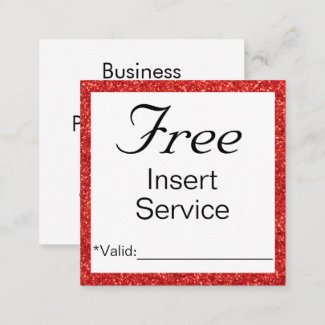 Promotional service or discount card