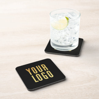 Promotional Your Company or Event Logo Black Coaster