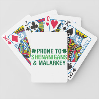 Prone to Shenanigans Bicycle Playing Cards