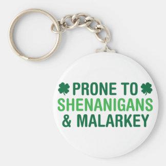 Prone to Shenanigans Keychain