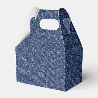 Pronounced Texture Of Blue Jeans Favor Box
