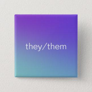pronouns 2 inch square button