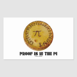 Proof Is In The Pi (Pi On Baked Pie)