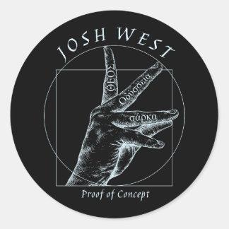 Proof of Concept White Logo Classic Round Sticker
