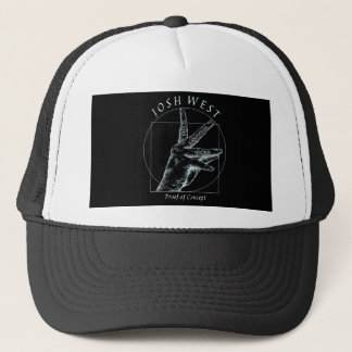 Proof of Concept White Logo Trucker Hat