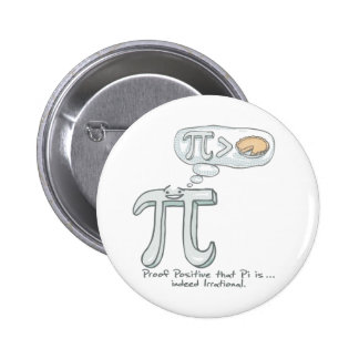 Proof that Pi is Irrational 2 Inch Round Button