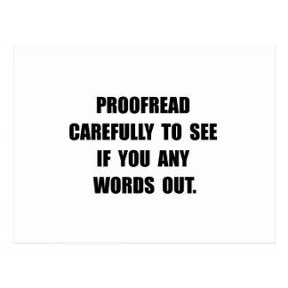 Proofread Postcard