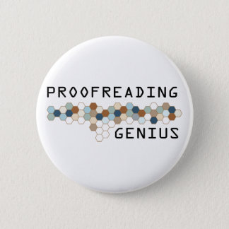 Proofreading Genius 2 Inch Round Button