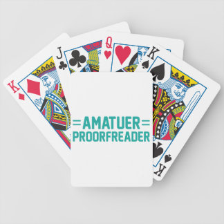 Proorfreader Bicycle Playing Cards