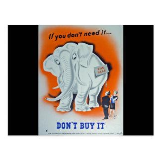 "Propaganda Poster ""If you don't need it ..."" Postcard"