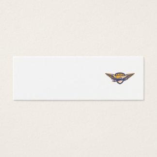 Propeller Airplane Shield Wings Retro Mini Business Card