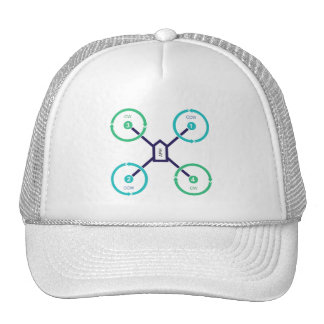Propeller Diagram Quad X Trucker Hat