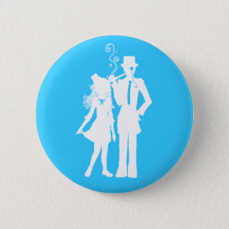 Proper Stylish Couple 2 Inch Round Button