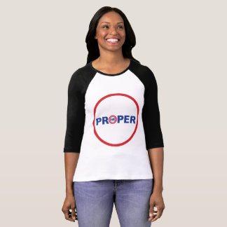 Proper T-shirt women's black sleeves