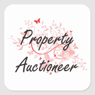 Property Auctioneer Artistic Job Design with Butte Square Sticker