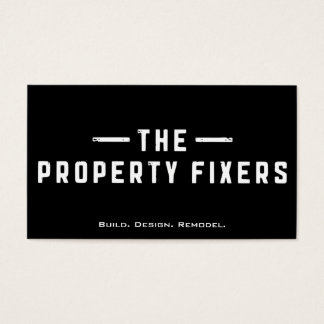 Property Fixers Black Business Card