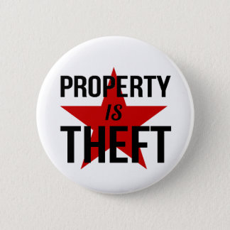 Property is Theft - Anarchist Socialist Communist 2 Inch Round Button