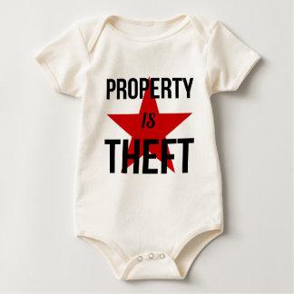 Property is Theft - Anarchist Socialist Communist Baby Bodysuit