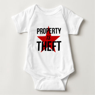 Property is Theft - Anarchist Socialist Communist Baby Bodysuit
