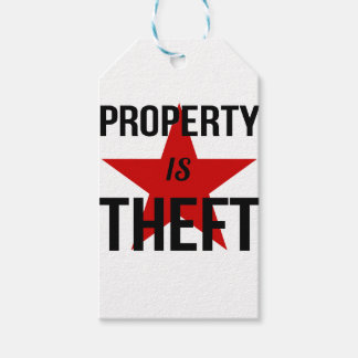 Property is Theft - Anarchist Socialist Communist Gift Tags