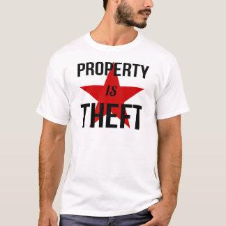 Property is Theft - Anarchist Socialist Communist T-Shirt