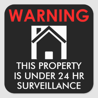 PROPERTY IS UNDER 24 HR SURVEILLANCE STICKER