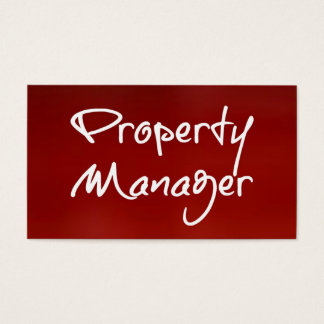Property Manager Red Business Card