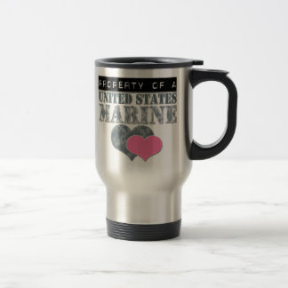 Property of 15 oz stainless steel travel mug