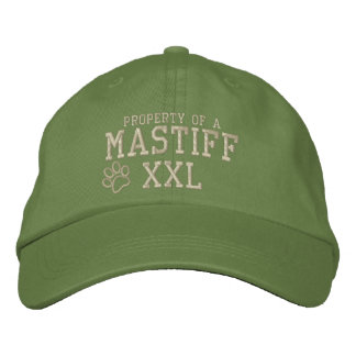 Property of a Mastiff Embroidered Hat