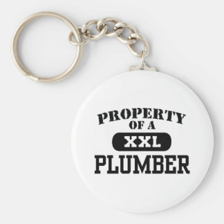Property of a Plumber Keychain