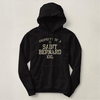 Property of a Saint Bernard Embroidered Hooded Sweatshirt