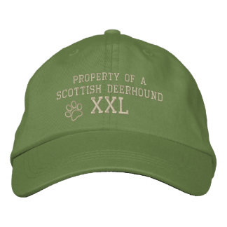 Property of a Scottish Deerhound Embroidered Hat