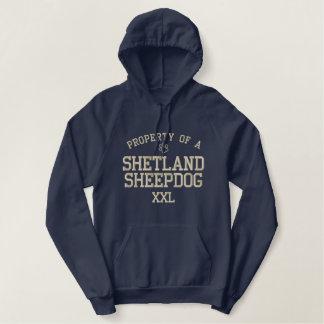 Property of a Shetland Sheepdog Embroidered Hoodie