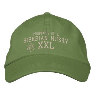Property of a Siberian Husky Embroidered Hat