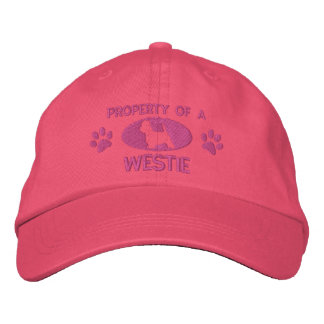 Property of a Westie Embroidered Hat (Pink)