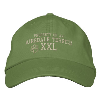Property of an Airedale Terrier Embroidered Hat