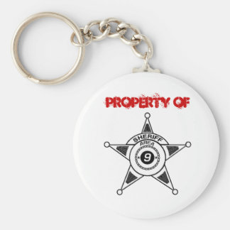 Property of Area 9 Sheriff Keyring