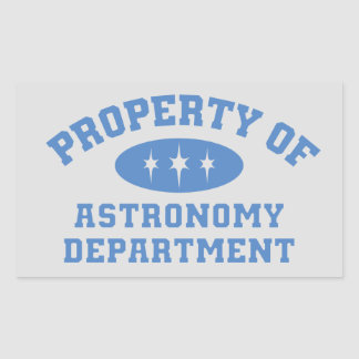 Property Of Astronomy Department Sticker