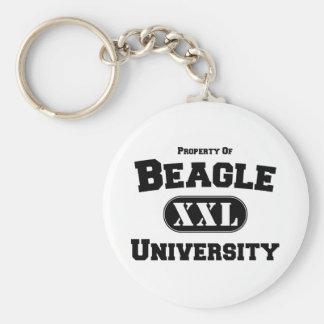 Property of Beagle University Basic Round Button Keychain