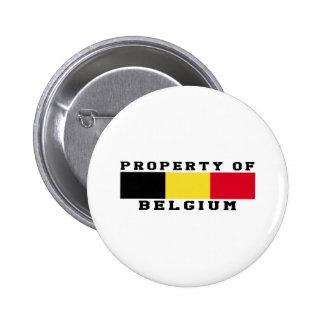 Property Of Belgium Pins