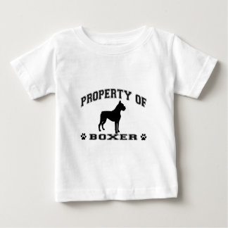 """""""Property of Boxer"""" words with dog silhouette Baby T-Shirt"""