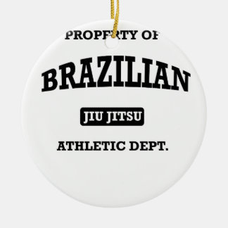 Property of Brazilian Jiu Jitsu Atheltic Departmen Ceramic Ornament