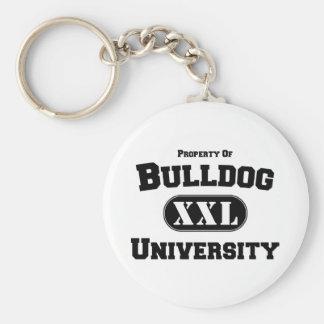 Property of Bulldog University Key Chain
