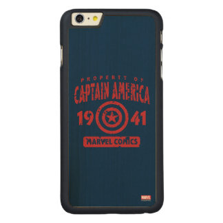 Property Of Captain America Carved® Maple iPhone 6 Plus Case