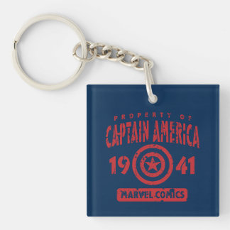 Property Of Captain America Double-Sided Square Acrylic Keychain