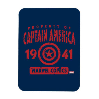 Property Of Captain America Rectangular Photo Magnet