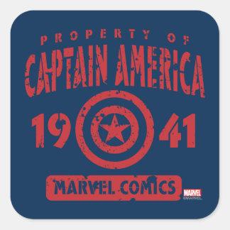 Property Of Captain America Square Sticker