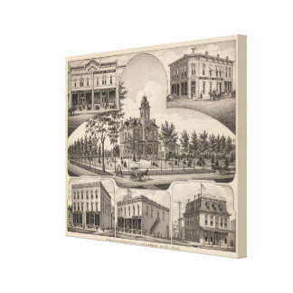 Property of CH Lebold, Abilene, Kansas Stretched Canvas Print
